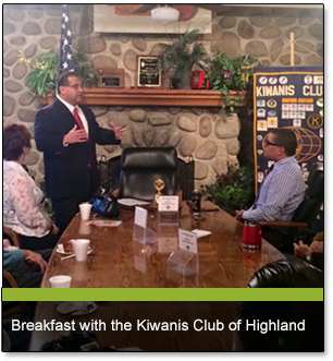 Breakfast with the Kiwanis Club of Highland