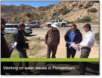 Working on water issues in Pioneertown