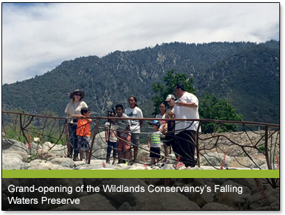 Grand-opening of the Wildlands Conservancy's Falling Waters Preserve
