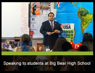 Speaker at Big Bear High School