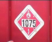placard hazardous material sign