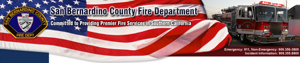 San Bernardino County Fire Department Banner