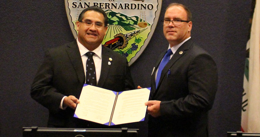 San Bernardino County Chairman Ramos and Supervisor Hagman