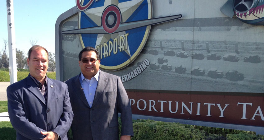 Supervisor Hagman on a tour with Chairman James Ramos
