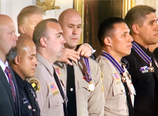 President Trump presents Medals of Valor to San Bernardino County law enforcement