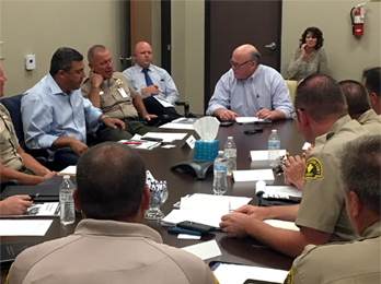 Sheriff's crime task force meeting with Supervisor Lovingood