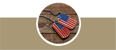 Dog tags with flag in them